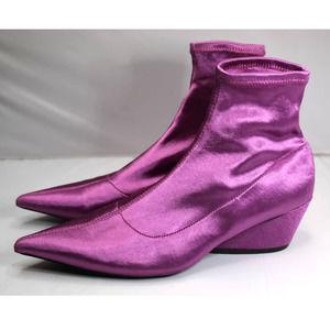 Retro Zara pointed toe sock booties 38 us 7.5